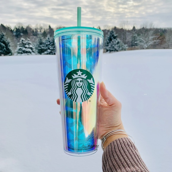Starbucks Other Iridescent Mermaid Scales Cold Cup